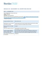 Module 4c In-Class Assignment 8 - Advertising and IMC1.docx