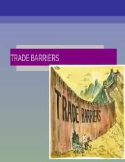 Chapter 2 Trade Barriers
