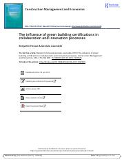 The influence of green building certifications in collaboration and innovation processes