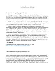 terrestrial resource challenges