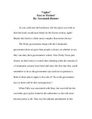 Uglies Fact or Fiction ROUGH DRAFT II.doc