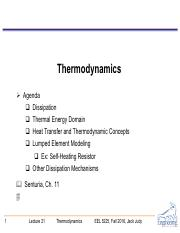 EEL 5225-L21 - Thermo