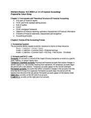 Mid-term 1 review notes Fall 2014 ACC3000
