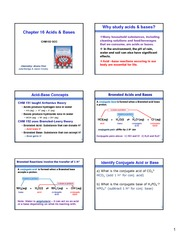 Chapter 16 Lecture Notes on Acids and Bases