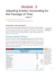 Module 3 - Adjusting Entries -Accounting for the Passage of Time- Part 2