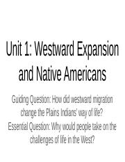 Olivia's copy;//Westward Expansion and Native Americans.pptx