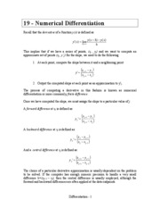 19 Numerical_Differentiation