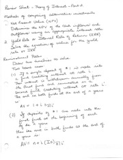 Review Sheet Theory of Interest
