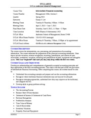 Syllabus for Management 120A Intermediate Accounting - Spring 2012