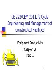 Chapter 14 - - Equipment Productivity Part II(1).pdf