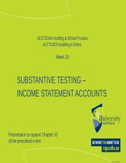 Student Week 10 substantive tests income state.pptx