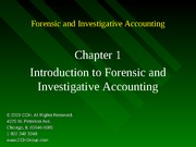 4Ed_CCH_Forensic_Investigative_Accounting_Ch01