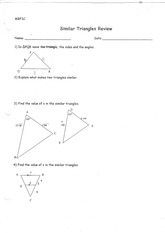 MBF3C Similar Triangles Review