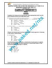 Ads by Google NTS SST Biology Chemistry Sample Paper NTS SST