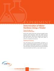 42-0152-00-02-EXP, Determination of Water Hardness Using a Titrator
