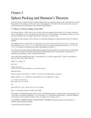 Sphere Packing and Shannon's Theorem