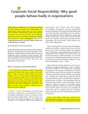why good people behave badly in organisations