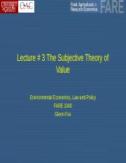 Lecture # 3 The Subjective Theory of Value.pptx