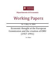 Session 2 - Ivo Maes -Economic thought at the European Commission and the creation of EMU - 2009.pdf