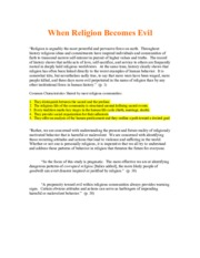 Reading Notes - When Religion Becomes Evil