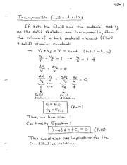 Incomprehensible fluid and solids notes