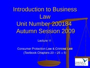 IBL Lecture 11 - Autumn 2009