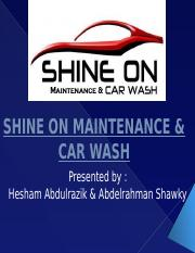 SHINE ON MAINTENANCE & CAR WASH
