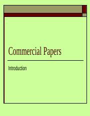 Brief  L-11-Commercial Papers.ppt