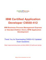 IBM C9550-412 Test Preparation material.pdf