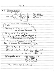 Phys 121 Electrical Circuits Tutorial Solutions