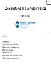 10 - Local Features and Correspondences