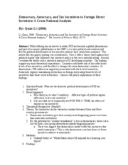 Li (2006)- Democracy, Autocracy, and Tax Incentives to Foreign Direct Investors- A Cross-National An