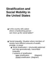 stratifications and social mobility in united states sociology essay Social stratification and gender  not until this century were women in the united states allowed to own property,  social mobility causes and effects.