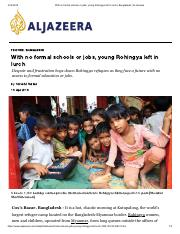 With no formal schools or jobs, young Rohingya left in lurch _ Bangladesh _ Al Jazeera.pdf