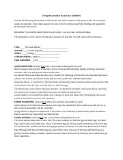The Great Gatsby AP Sig Form