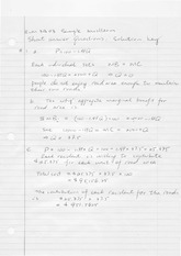 Econ3B03 Sample Midterm Short Answer Questions Solution Key