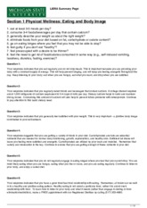 LiBRA-1 - LiBRA Summary Page Section 1 Physical Wellness