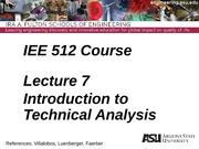 Lecture 7dm Intro to Technical Analysis