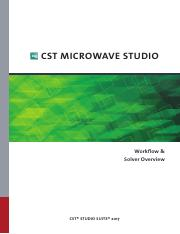 CST MICROWAVE STUDIO - Workflow and Solver Overview pdf - CST