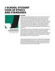 Journalism School Code of Ethics