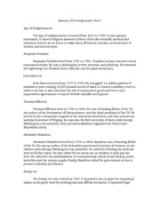 History 1301 Study Guide 1 Test 2