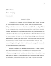 physical anthropology essay