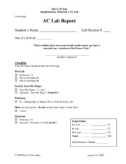 Lab 2 AC Supplement