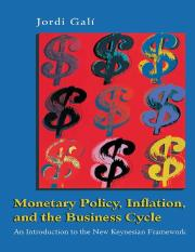 Jordi Gali (2008) Monetary Policy, Inflation and the Business Cycle