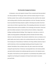Hum 102-Changing the Food Industry Essay