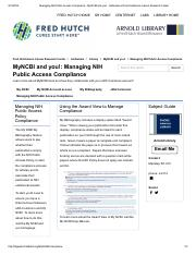 Managing NIH Public Access Compliance - Arnold Library.pdf