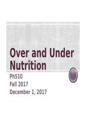 OverUnder Nutrition PH510 fall 2017.ppt