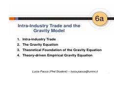 06a The Gravity Model