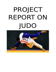 PROJECT REPORT ON JUDO.docx