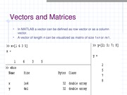 vectors and matrices and basic instructions